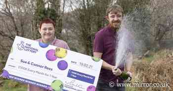 Mum and son who split lotto winnings scoop £100k-a-month for a year