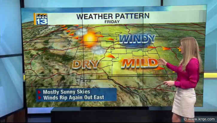 Clear skies across the state as winds become gusty, more widespread this weekend