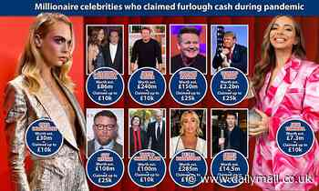 The millionaire celebs who claimed furlough cash to keep their businesses afloat