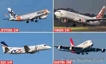 Qantas, Jetstar, Rex and Virgin Airlines price war with domestic flights as cheap as $39