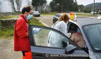 Vacunación Covid en coche para pacientes dependientes en Tamames, Linares de Riofrío y La Fuente de San Esteban - Tribuna de Salamanca