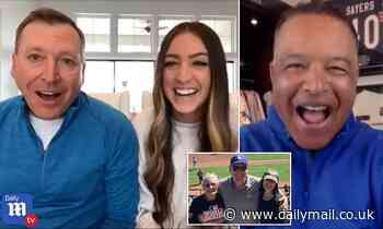 Heartwarming moment LA Dodgers manager Dave Roberts surprises superfan dad on DailyMailTV