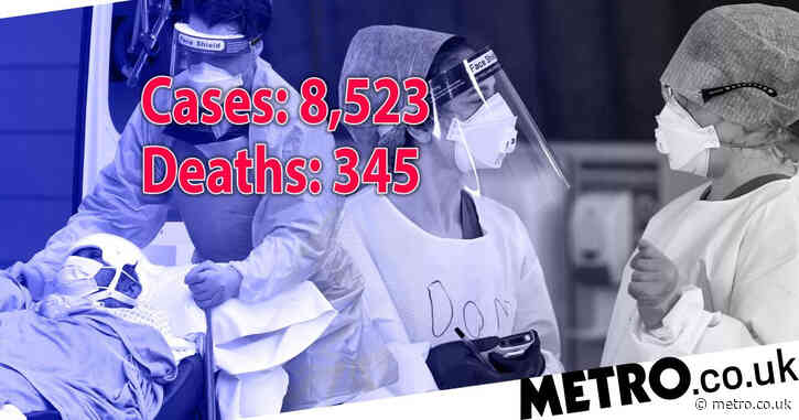 Another 345 people die with Covid as cases jump by 8,523