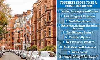 Most and least affordable places in Britain for first time buyers