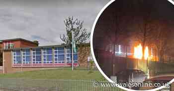 Fire started at primary school on pupils' first day back