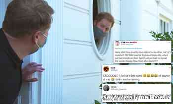Social media users on Prince Harry's claim about Archie's first word - Daily Mail