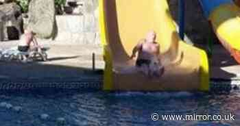 Family caught out by waterslide photos after fake holiday food poisoning claims