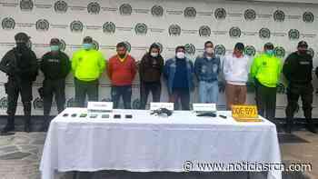 Cae banda que secuestraba en Bogotá y era dirigida vía celular por un preso en Cómbita - Noticias RCN