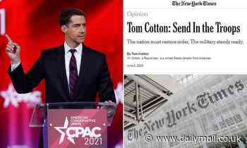 Tom Cotton accuses New York Times of having surrendered to 'woke child mob from their own newsroom'