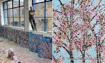 Artist Damien Hirst is selling cherry blossom prints for £2,000 (and you can pay by Bitcoin)