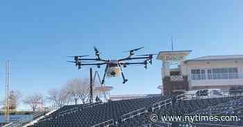 Rangers' Don Wakamatsu Sanitizes Stadium Using Drones