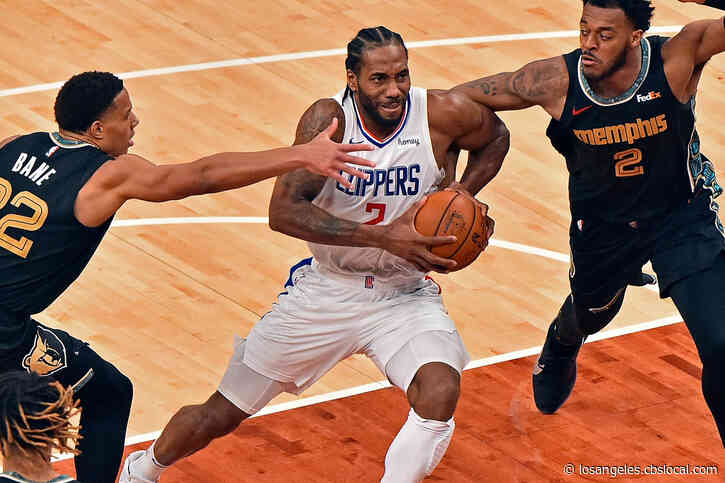 Leonard Has 30 Points, Clippers Beat Grizzlies For Split