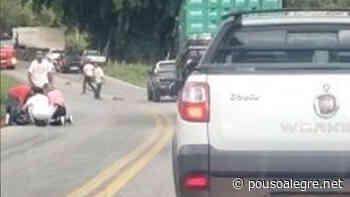 Motoboy fica gravemente ferido em acidente entre Borda da Mata e Pouso Alegre - PousoAlegre.net