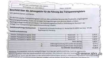 Gebühr für Transparenzregister: Bundesanzeiger-Verlag schickt mysteriöse Rechnung an Squash-Club   shz.de - shz.de