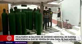 San Miguel: incautaron 46 balones de oxígeno medicinal de dudosa procedencia - El Comercio Perú