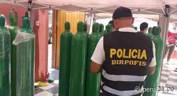 San Miguel: incautan 46 balones de oxígeno medicinal de dudosa procedencia que se vendía para pacientes con COVID-19 - Diario Perú21