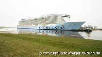 """Tourismus: Kreuzfahrtschiff """"Odyssey of the Seas"""" unterwegs zur Nordsee"""