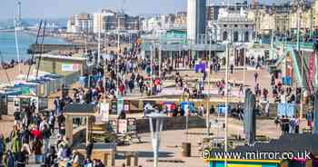 Crowds flock to parks and beaches in 15C sun despite scientist's Covid warning