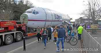In pictures: plane makes way into Bristol after motorway journey