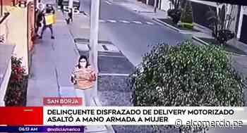 San Borja: mujer es asaltada por un delincuente disfrazado de repartidor de delivery - El Comercio Perú