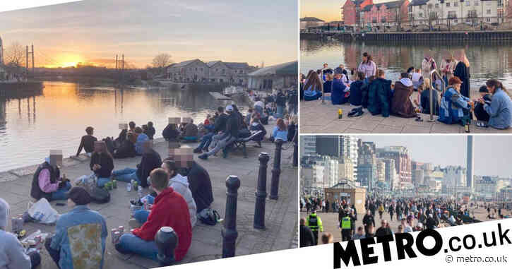 Crowds hit beaches and parks to enjoy 13°C  weather despite stay at home warning