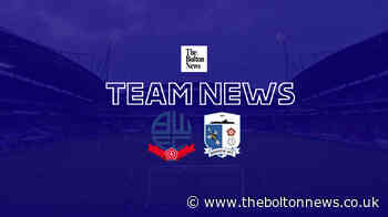 Bolton bring Kieran Lee and Antoni Sarcevic into side to face Barrow but no Marcus Maddison - The Bolton News