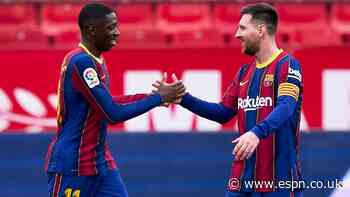 Messi, Dembele 8/10 as Barcelona stay alive in La Liga race