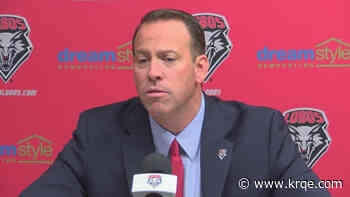 UNM Athletic Director Eddie Nuñez holds press conference, regarding UNM Men's Basketball