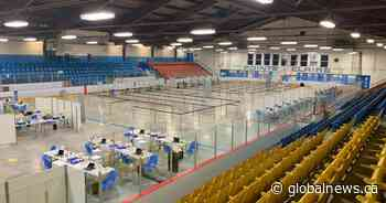 Coronavirus: Pointe-Claire's Bob Birnie Arena transformed into mass vaccination site - Global News