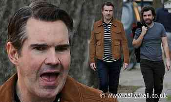 Jimmy Carr keeps things casual as he enjoys an stroll with a friend in London