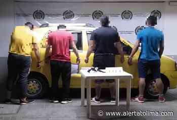 Capturaron cuatro sujetos armados en un taxi sobre la vía Carmen de Apicalá – Melgar - Alerta Tolima