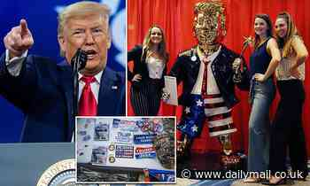 Golden statue of Donald Trump for sale at CPAC revealed to be from Mexico