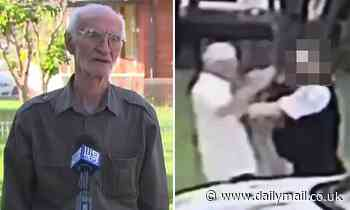 Cop shoves an elderly man, 77, twice after 'accusing him of dodging a breath test' in Sydney