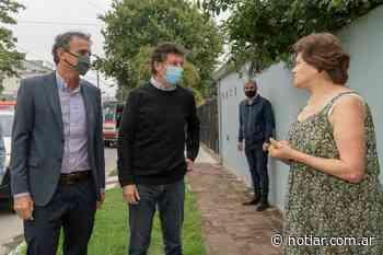 Posse y Katopodis recorrieron los nuevos pavimentos de Boulogne y Villa Adelina - notiar.com.ar