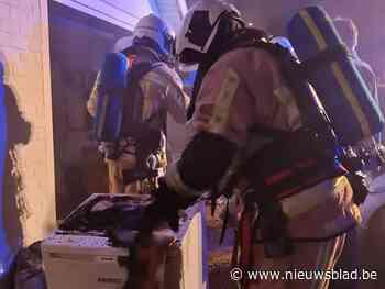 Droogkast vat vuur in garage
