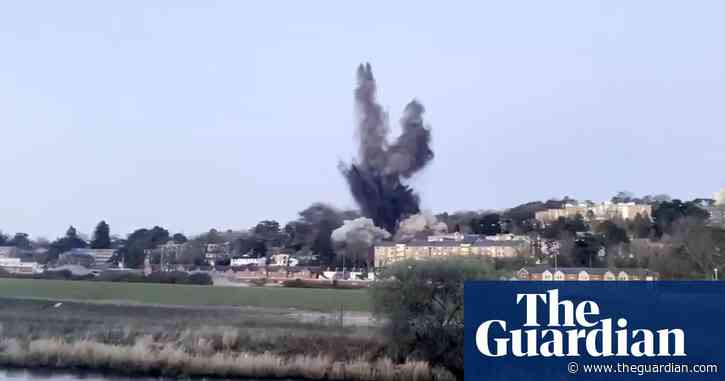 Second world war bomb detonation damages buildings in Exeter