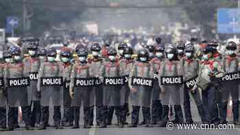 Myanmar police shoot dead 4 protesters