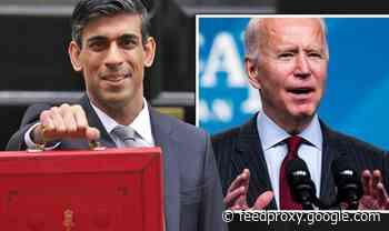 Rishi Sunak poised to copy Joe Biden's plan for huge corporation tax rise