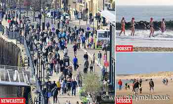 Shoppers hit the streets and sunworshippers take to the sea despite Covid lockdown