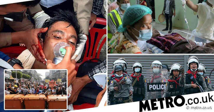 Police kill at least 18 people protesting against Myanmar military coup