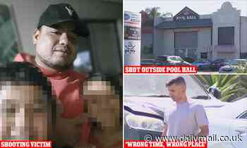 Father-of-five gunned down outside pool hall in a botched drive-by shooting of the WRONG man
