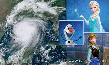 Hurricane names inspired by Frozen characters Olaf, Elsa, and Ana are on this year's list