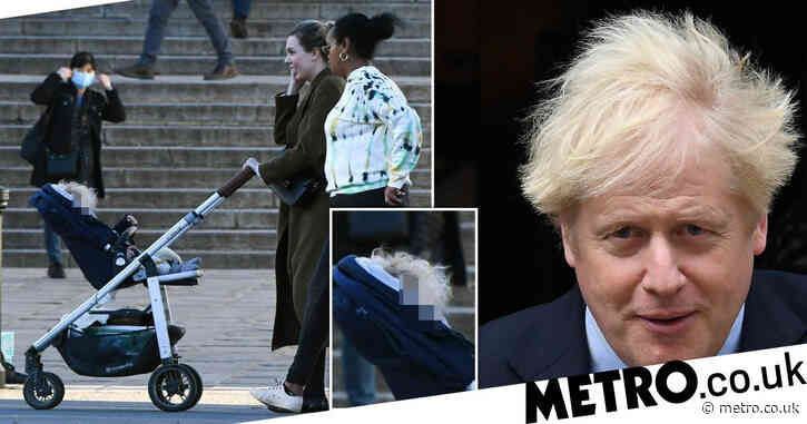 Boris' son Wilfred shows he's inherited PM's unruly blonde hair
