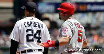 Albert Pujols and Miguel Cabrera Address Their Futures
