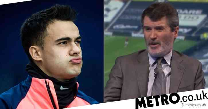 Sergio Reguilon reacts to Roy Keane calling Spurs' players 'average' in heated argument with Jamie Redknapp