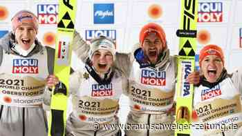 "Nordische Ski-WM: ""Felsbrocken vom Herzen"":Skisprung-Mixed erobert Gold"