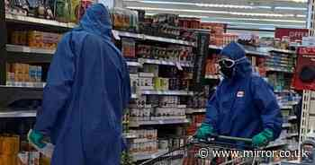 Waitrose shoppers spotted wearing hazmat suits for lockdown supermarket trip