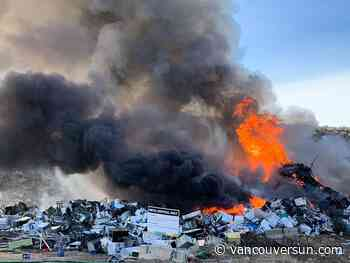 Firefighters battled toxic smoke and flames at Kamloops scrapyard
