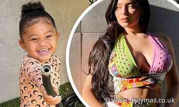 Kylie Jenner, 23, shares a beaming photo of her daughter Stormi, three, watering plants
