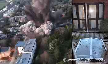 Stunning drone footage shows the force of the WWII bomb detonated in the middle of Exeter